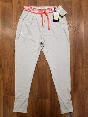 Under Armour Girls Heatgear Active Pants Size Medium Gray