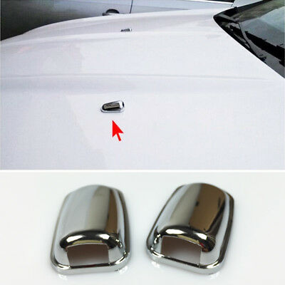 For Ford Focus Mk3 Chrome Head Water Spray Nozzle Wiper Water-jet Cover Trim