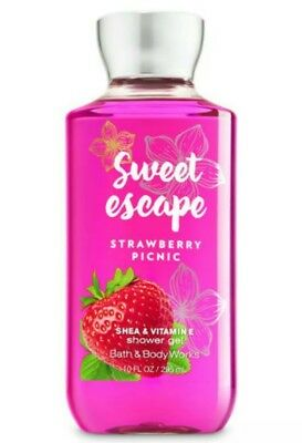 New Bath & Body Works Sweet Escape Strawberry Picnic 10 oz. Shower Gel