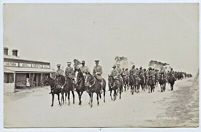 C.1910 Rp Postcard Lord Kitchener's Visit  Military Camp Adelaide S.a  V47