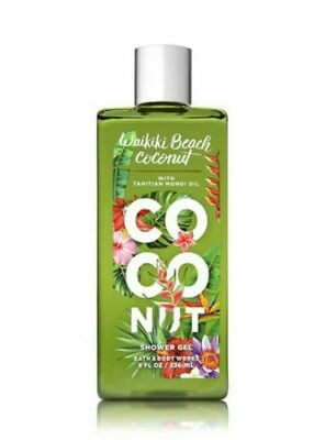 New Bath & Body Works Waikiki Beach Coconut 10 oz. Shower Gel with Monoi Oil