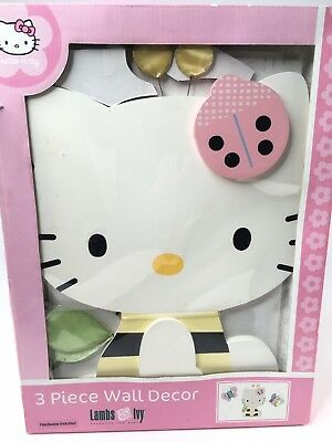 New Sanrio Lambs & Ivy Hello Kitty Baby Nursery Wall Decor For Matching Bedding