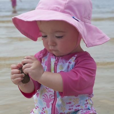 1a6400f5ae8 i play. Baby Brim Sun Protection Hat Light Pink 6-18 Months