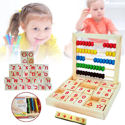 US Wooden Abacus Counting Number Kids Early Learning Math Educational Toys New