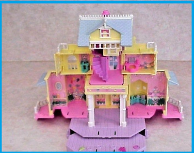 Vintage Bluebird POLLY POCKET Yellow Pop-Up Party Clubhouse (1995) Mansion