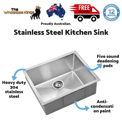 Cefito 540x440mm Stainless Steel Kitchen Laundry Sink Single Bowl Nano - Silver