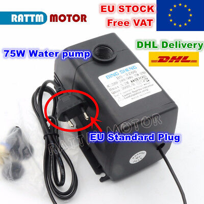 【DE】75W 220V Water Pump 3.2m AC for CNC Engraving Milling Machine Spindle Motor
