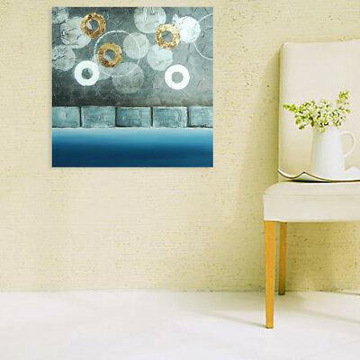 Hand Painted Modern Abstract Oil Painting Stretched Canvas Wall Art - Framed