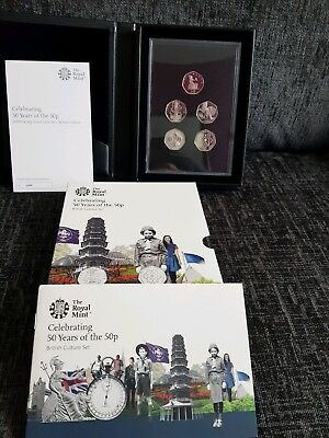 Celebrating 50 Years of the 50p 2019 UK 50p Proof Coin Set British Culture