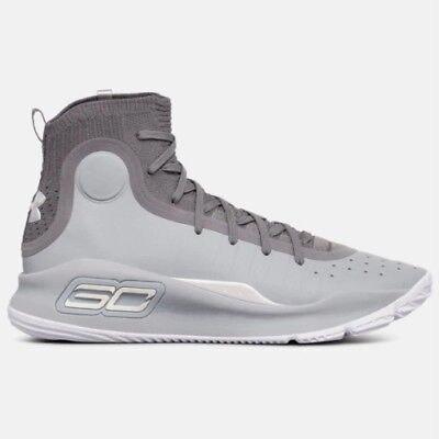 3ece6291d071 New Under Armour Men s UA Curry 4 Basketball Shoes Sneakers -  Gray(1298306-107