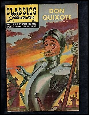 Classics Illustrated #11 Vg  Hrn166 (Don Quixote) Free Shipping On $15 Order!