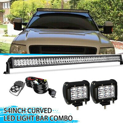 Curved 54inch LED Light Bar Combo ATV SUV 4WD Jeep Ford Off Road Truck 52