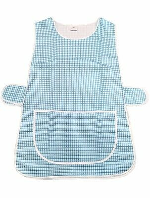 1 Ladies Dog-Tooth Tabard Tabbard Apron Work Overall / Anne / Aqua / All Sizes