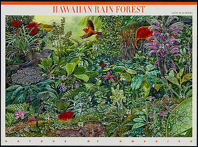 2010 HAWAIIAN RAIN FOREST 12th Nature of America: Mint Sheet 10 44¢ Stamps #4474