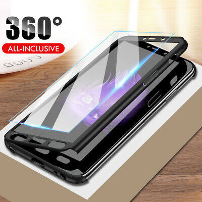 360° Full Protection For OnePlus 5 5T Cover Case + Tempered Glass Hard PC Shell