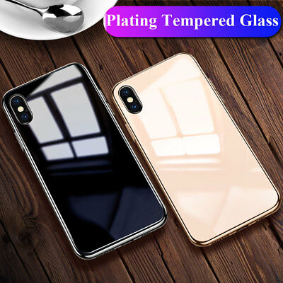Hybrid Shockproof Tempered Glass Back Case Cover for Apple iPhone XS Max/XR/X 8+