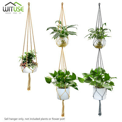 "Macrame Pot Plant Hanger Holder Colorful Cotton Rope Hanging Planter 35""/63.7"""
