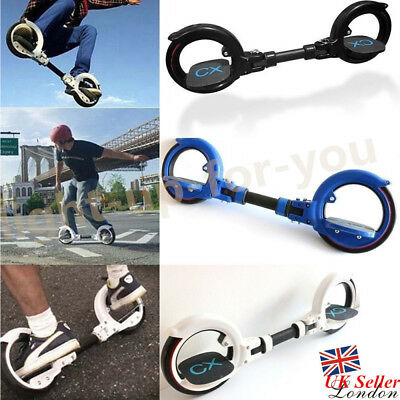 Folding Two-Wheel Self-Propelled Skatecycle Hubless Scooter Skateboard Portable
