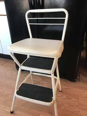 Enjoyable Vintage Mid Century Cosco Step Stool Counter Chair Fold Flip Unemploymentrelief Wooden Chair Designs For Living Room Unemploymentrelieforg