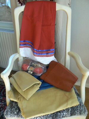 Material Sewing kit for a Swedish folk costume from Öland