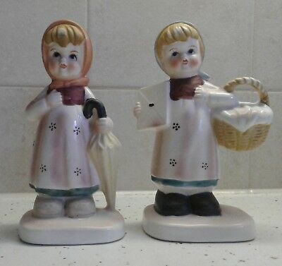 Flambro Collector's Series Pair Girl Statues