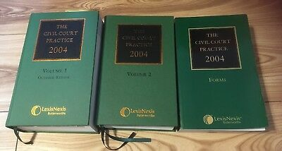 The Civil Court Practice: 2004 Volumes 1 & 2 Forms Lexisnexis Butter worth's Vgc