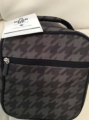 Pottery Barn Teen Gear UP Classic Lunch Bag Houndstooth Olive Green NWT