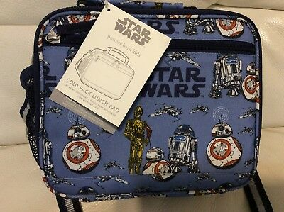 Pottery Barn Kids Mackenzie Cold Pack Lunch Bag Star Wars Droid NWT  Blue