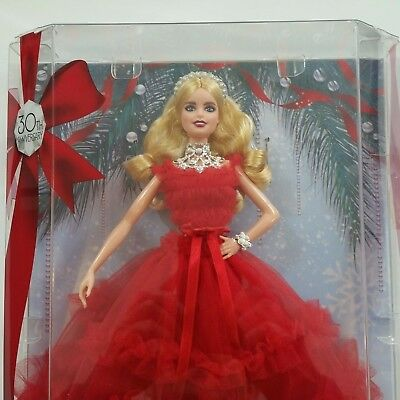 Barbie by Signature Holiday 2018 Blonde Caucasian Doll Christmas Red Dress