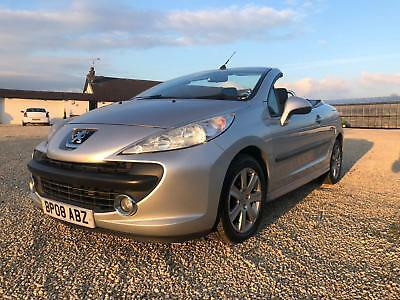 2008 Peugeot 207 Cc Sport 1.6 Cabriolet Low Mileage Spares Or Repairs