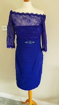 Blue Veni Infantino Mother Of The Bride Outfit Size 10