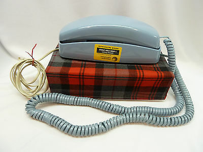 ATT Push Button Blue Trimline Style Telephone - Dial Lights Up USA Ships Free