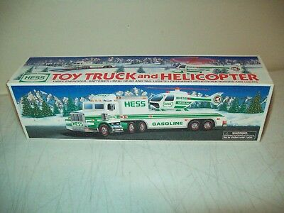 1995 Hess toy Truck and Helicopter Brand New with box & inserts MINT working