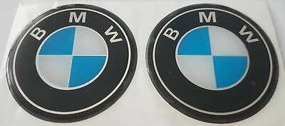 4 x 70 mm ~ 2,76 inches dome shaped stickers for BMW car wheels center logo