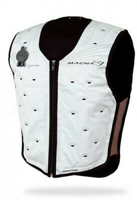 MACNA 1658050781 Dry Cooling Vest for Motorcycle XS-M White Japan with Tracking