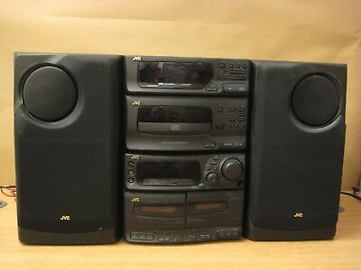 JVC HI-FI stereo system CD player tuner twin cassette