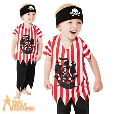 Kids Pirate Costume Boys Girls Childs Buccaneer Outfit Book Week Day Fancy Dress