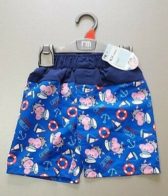 Ex Mothercare PICK YOUR SIZE peppa Pig George shorts swim shorts New with Tag