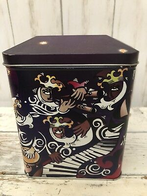 """Empty Starbucks Gingerbread Coffee Tin Collectible 6"""" Height"""