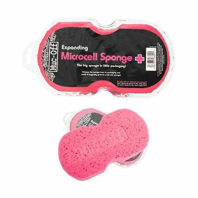 Muc-Off Expanding Pink Cleaning Sponge Motorbike Cycle Microcell Cleaning New