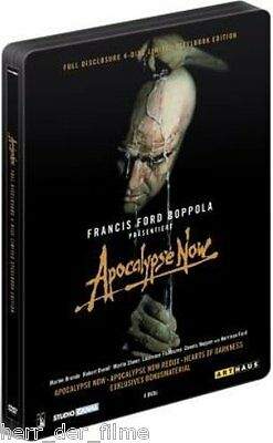 APOCALYPSE NOW + REDUX (Full Disclosure) 4 DVDs, Steelbook NEU+OVP