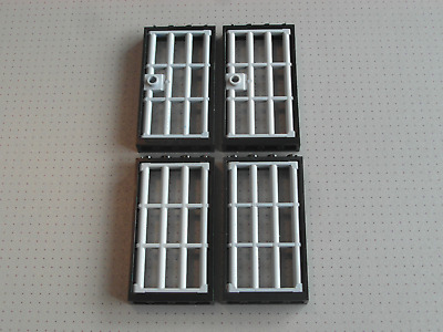 Lego 1x4x5 Studs 4 x White Doors and Windows with Clear Glass GMT114