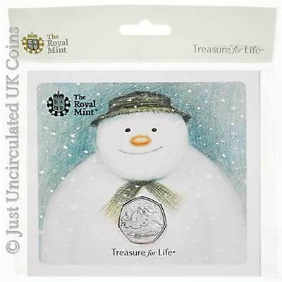 2018 Snowman 50p Brilliant Uncirculated UK Coin Pack - Royal Mint Fifty Pence