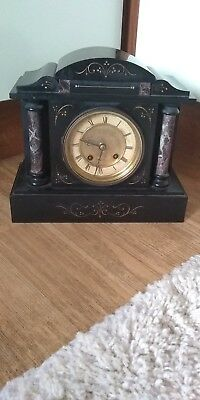 A Victorian Slate Mantel Clock* 8 Day Movement* For Parts*