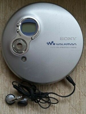 Vintage Retro Sony CD Walkman & Sony Headphones