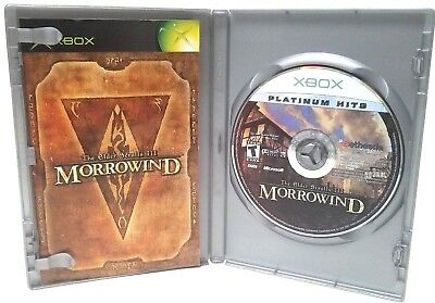 Morrowind Elder Scrolls III Platinum Hits Xbox Video Game 2003 TESTED + COMPLETE