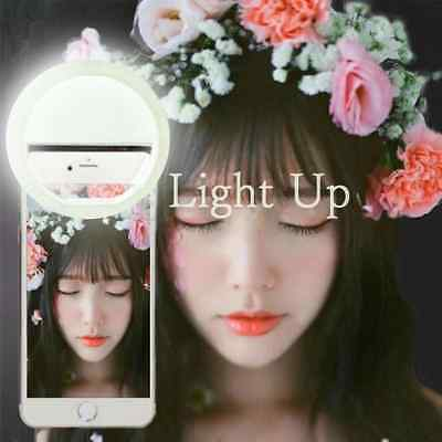 Luxury LED Light Up Selfie Luminous Phone Ring For iPhone 6/6S P/5S/5 Android AA