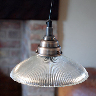 Carnaby vintage retro glass holophane style reproduction ceiling light fitting