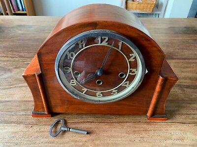 Vintage mantel clock, Westminster chime with silencing facility