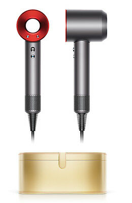 Dyson Supersonic    Red/Iron Hair Dryer with Gold Presentation Case - 323718-01